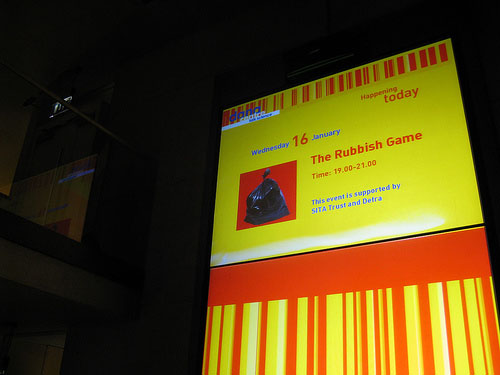 Screen showing the Rubbish Game information.